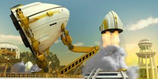 Nave espacial 3 Fotografia de Stock Royalty Free