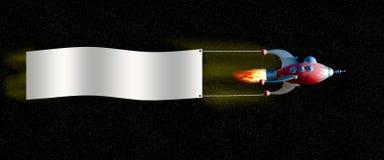 Nave espacial com bandeira Imagens de Stock