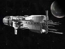 Nave espacial con tierra del planeta libre illustration