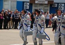Nave espacial Crewmembers de Soyuz Fotografía de archivo