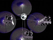 Nave espacial da colher de Hidrogen Fotografia de Stock Royalty Free