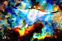 Nave espacial da NASA no espaço cósmico Colora o fundo abstrato cósmico Efeito dos estalidos Fotos de Stock