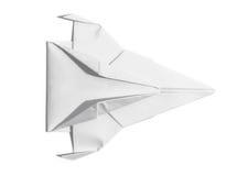 Nave espacial de la visión de arriba de papel imagen de archivo