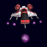Nave espacial de Sci fi en universo Imágenes de archivo libres de regalías
