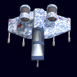 Nave espacial de Sci fi en universo Foto de archivo libre de regalías