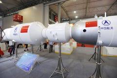 Nave espacial de Shenzhou e modelo chineses da estação de espaço fotos de stock royalty free