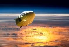 Nave espacial del cargo en órbita de la bajo-tierra Elementos de esta imagen equipados por la NASA libre illustration