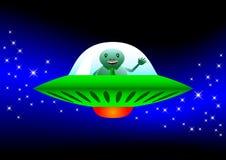 Nave espacial del vuelo ilustración del vector