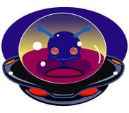 Nave espacial do estrangeiro dos desenhos animados Imagens de Stock Royalty Free