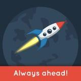 Nave espacial do voo no espaço Foto de Stock