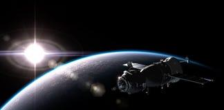 Nave espacial en la órbita Fotografía de archivo libre de regalías