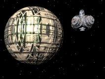 Nave espacial estrangeira ilustração do vetor