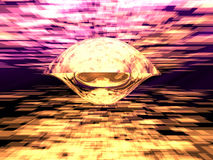 Nave espacial futurista Fotografia de Stock Royalty Free
