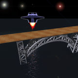 Nave espacial interplanetária Foto de Stock