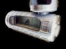 Nave espacial modelo foto de archivo libre de regalías