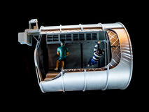 Nave espacial modelo imagen de archivo libre de regalías