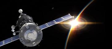 Nave espacial na órbita ilustração do vetor