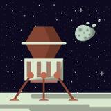 Nave espacial na lua ilustração do vetor