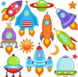 Nave espacial, nave espacial, Rocket, UFO Foto de archivo libre de regalías