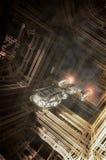 Nave espacial no ambiente estrangeiro Foto de Stock