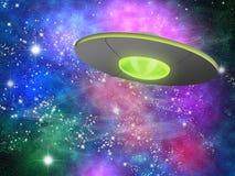 Nave espacial no cosmos ilustração do vetor