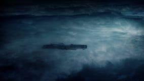 Nave espacial sobre la atmósfera en tormenta eléctrica metrajes