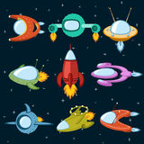Nave espacial y cohetes Ilustración del Vector