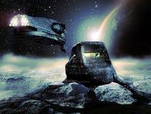 Nave espacial y estación Imágenes de archivo libres de regalías