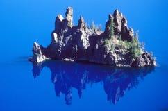 Nave fantasma del lago crater Fotografie Stock