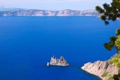 Nave fantasma, lago crater Fotos de archivo libres de regalías
