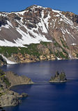Nave fantasma, lago crater Fotografie Stock