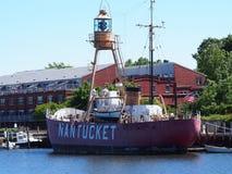 Nave faro Nantucket II WLV 613, mA Immagine Stock Libera da Diritti