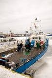 Nave in ghiaccio Fotografia Stock