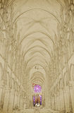 Nave of a Gothic Church Royalty Free Stock Photo