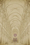 Nave of a Gothic Church Royalty Free Stock Image