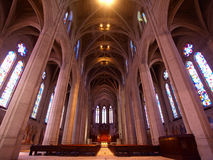 The Nave of Grace Cathedral Episcopal Church Royalty Free Stock Photo