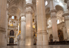 Nave of Granada Cathedral Royalty Free Stock Photos