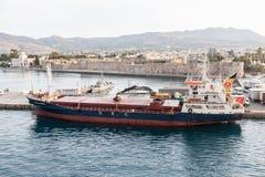 Nave Grecia de la isla de Kos Fotos de archivo