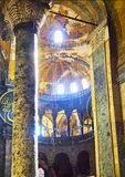 The Nave of the Hagia Sophia mosque. Istanbul, Turkey. royalty free stock images