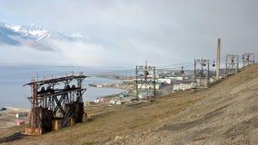 Nave histórica en el fiordo de Svalbard Fotografía de archivo libre de regalías