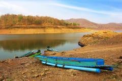 Nave in laguna Fotografie Stock Libere da Diritti