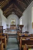 Nave of St Andrew`s Church, Withypool Royalty Free Stock Photography