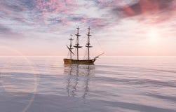 Nave in mare royalty illustrazione gratis