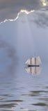 Nave in mare Fotografia Stock Libera da Diritti