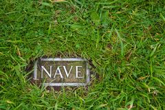 Nave - a mark indicating where the ruins of the temple are stand Stock Photos