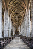 Nave of medieval church of St. Georg in Dinkelsbuehl Royalty Free Stock Photos
