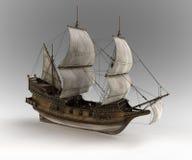 Nave medieval de la vela stock de ilustración