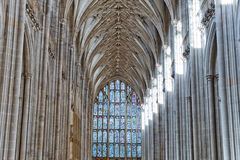 The nave and mosaic window at Winchester Cathedral Royalty Free Stock Images