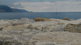 Nave nel mar Ligure Fotografia Stock