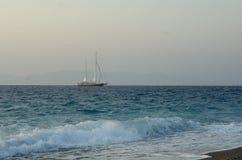 Nave nel mare Immagine Stock Libera da Diritti